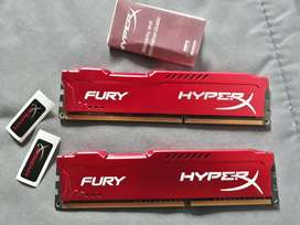 2x 4GB HyperX FURY DDR3 1866Mhz