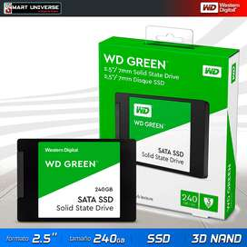 Disco Duro Solido Western Digital Verde 240gb 2,5'' SSD LAPTOP PC