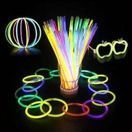 Lluvia Cósmica 50 Barras Neon 20 Cm Hora Loca Fiesta Manilla