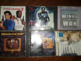 CD ORIGINALES BANDAS SONORAS DE PELICULAS ROBOCOP TITANIC ARMA MORTAL