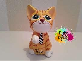 Alcancía Decorada (Gato personalizado)