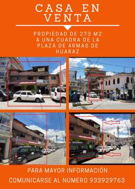 Propiedad de 273m2 a una cuadra de La Plaza de Armas de Huaraz