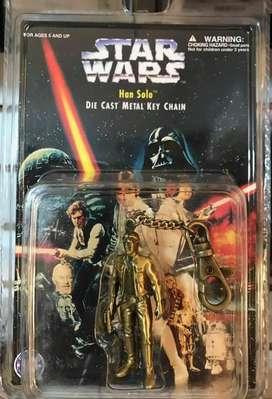Llavero Star Wars Figura Han Solo Metal LFL 1997 Diecast 6cm