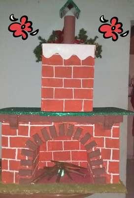 hermosa chimenea Navideña