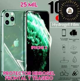 Protector de hidrogel para iphone x frontal y trasero
