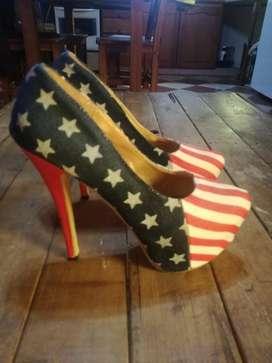zapatos taco alto stilletos