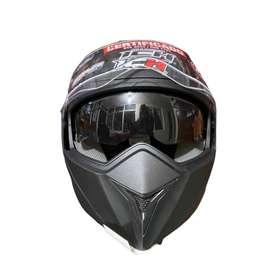 Casco Moto Abatible Ich-3110 Certificado Negro Mate Talla M (NUEVO)