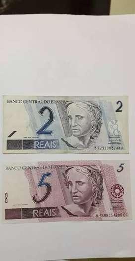 Vendo billetes do brasil