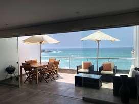 Alquilo departamento de  playa frente al mar