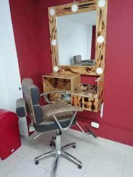 Se venden muebles para barbería