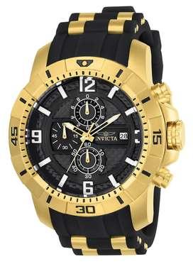 Reloj Hombre Invicta Pro Diver Crono Dorado Negro 24965