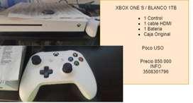 Xbox One S 1TB Blanco ORIGINAL