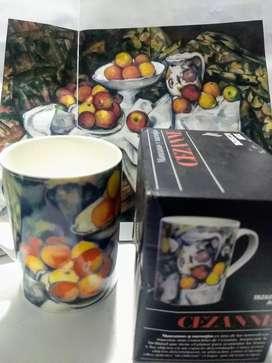 Taza Arte Cézanne Mug Pocillo + Catálogo de Biografía del artista