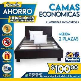CAMAS !!*PROMOCIONES*!! CAMAS DE MADERA // CAMAS BASES // CAMAS TAPIZADAS // ENTREGA GRATIS !! LLAME PALACIO DEL COLCHÓN