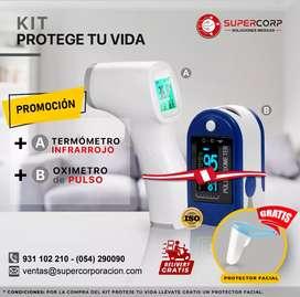 Kit Oximetro Contec + Termómetro Con Garantia