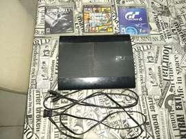 Playstation 3 Slim 250gb Y con 3 Juegos