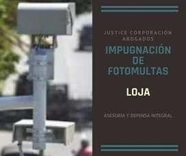 Abogado LOJA EC Impugnación de Fotomulta