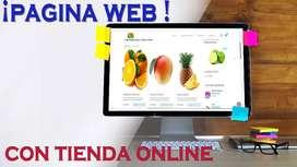 Página  web con comercio electrónico