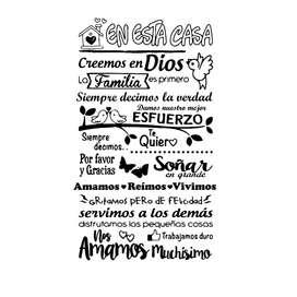 Frases Vinilo Decorativo En Esta Casa Creemos En Dios Hogar