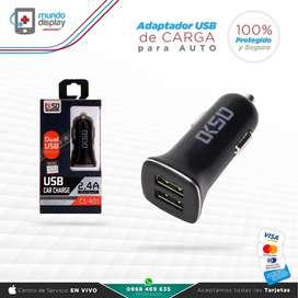 Adaptador USB de carga para auto Samsung Huawei Xiaomi Iphone Sony LG