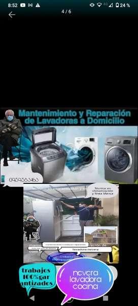 Servicio técnico en todo  tipo de lavadoras y Linea blanca