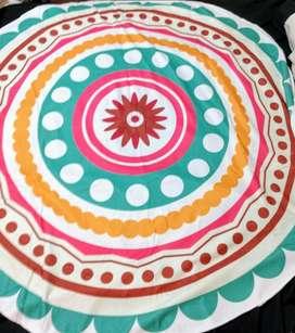 Toallon playero redondo diseño mandalas
