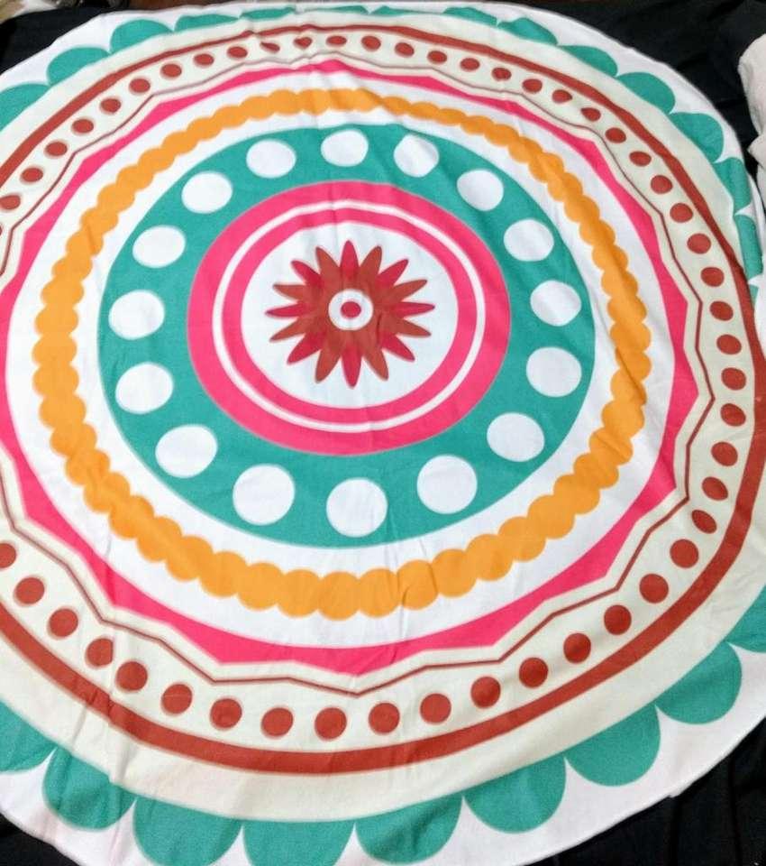 Toallon playero redondo diseño mandalas 0
