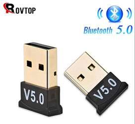 Adaptador Receptor Bluetooth Usb 5.0 Transmisor Audio Datos