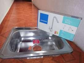 Lavaplatos sencillo Socoda. Grifo corona