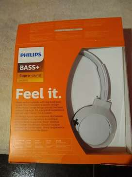 Auriculares Philips bass + ( 1 solo uso)