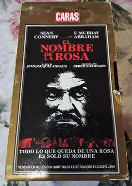 Nombre De La Rosa (connery) / Vhs Caras Original