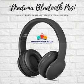Diadema Auriculares Inalámbricos Ajustables De Bluetooth P65