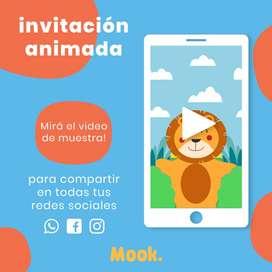 Animales de la Selva Invitación Animada en Video