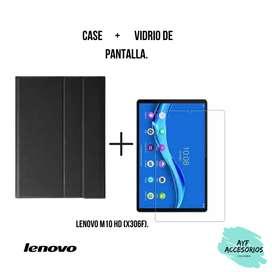 Combo de case más vidrio de pantalla Lenovo M10 HD (X360F)