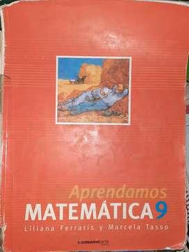Libro escolar, Matemática 9, Lilisna Ferraris y Marcela Tasso