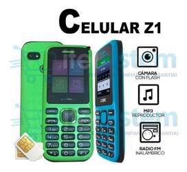 Celular Basico Barato Z1 Radio Duos Camara Itelsistem