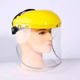 Protectores faciales amarillos