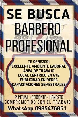 Se busca barbero profesional