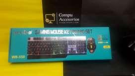 COMBO de teclado Gaming con luces
