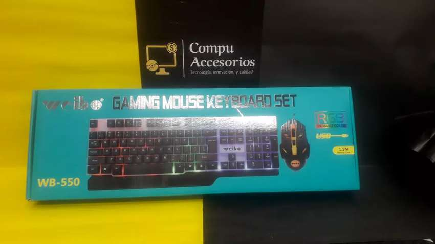 COMBO de teclado Gaming con luces 0