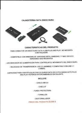 Caja externa para disco duro portátil
