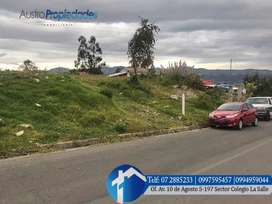 Terreno en venta sector Pampa Veintemilla