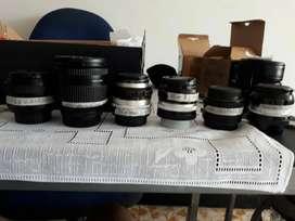 Lentes Nikon f. 1.4 y otros desde 200 mil pesos