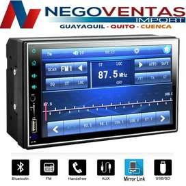 RADIO PANTALLA FULL TOUCH 7 PULGADAS BLUETOOH USB SD Y AUX PARA CARROS