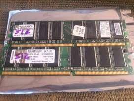 Memorias Kingston  DDR 512  PC 3200