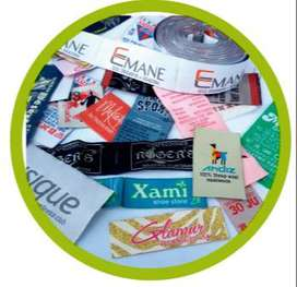 Etiquetas para ropa tejidas / bordadas full color por mayor y menor