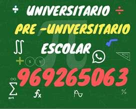 Profesor de matemática, estadística, cálculo, física.