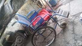 Silla de rueda con ruedas de bici