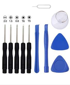 Kit de herramientas desarmadores para celulares 11 Unids ,Reparación Celulares iphone Samsung Sony Moto,etc
