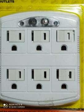 Adaptador multiple de 6 salidas